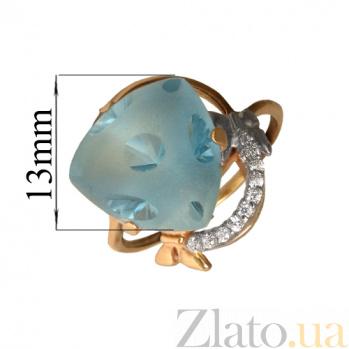 Золотое кольцо с топазами и фианитами Кассандра PTL--1к533/27