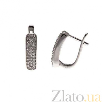 Серебряные серьги AQA--R-0009-E