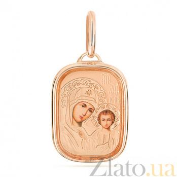 Золотая ладанка Божья Матерь SUF--400906рц