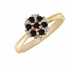 Кольцо из желтого золота Сильвия с бриллиантами