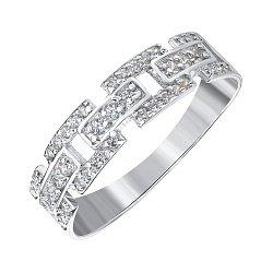 Серебряное кольцо с фианитами 000143865