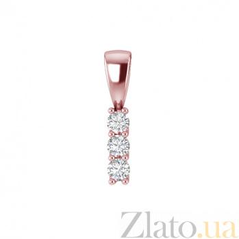 Золотой подвес в красном цвете с бриллиантами Феникс 000030725