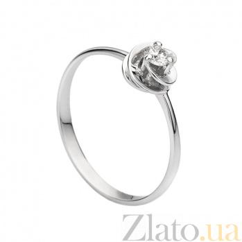 Кольцо из белого золота с бриллиантом Алета 000030497
