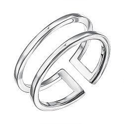 Серебряное разомкнутое кольцо 000136989