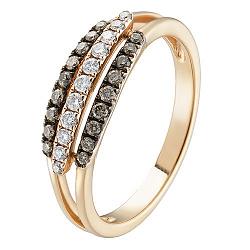 Золотое кольцо Карен с бриллиантами