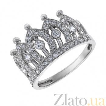 Серебряное кольцо фианитами Королевна AUR--81507б