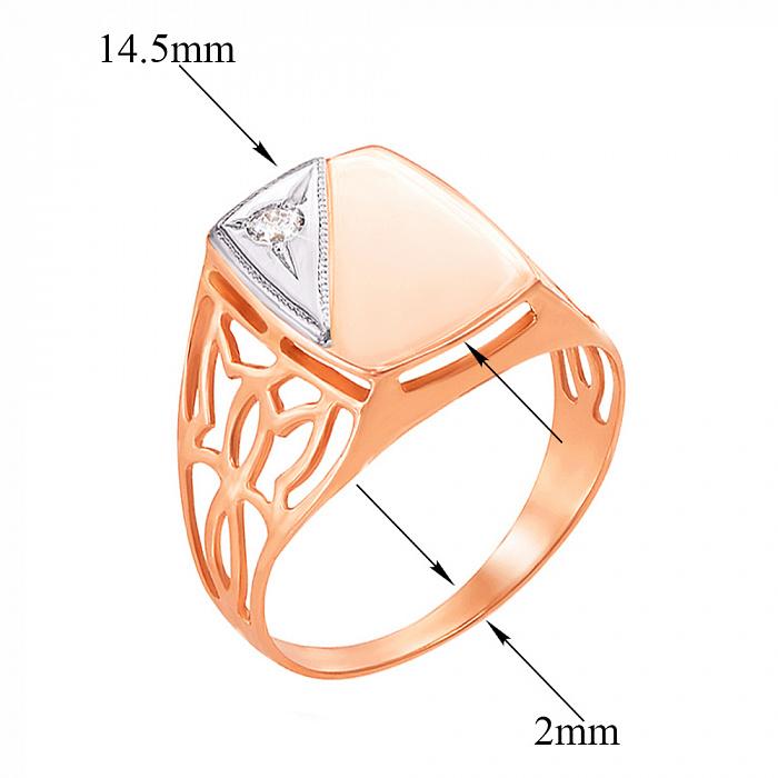 Золотой перстень-печатка с кристаллом циркония 000104213 000104213