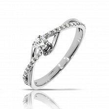 Кольцо из белого золота Моя вечность с бриллиантами