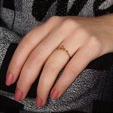 Кольцо Вечное чувство в красном золоте