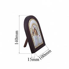Серебряная казанская икона Богоматери с позолотой