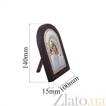 Серебряная казанская икона Богоматери с позолотой AQA--MA/E1106DX