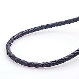 Кожаный шнурок Вернон с серебряной застежкой, 4мм