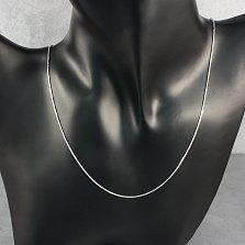 Серебряная цепочка Полина в плетении снейк с четверной насечкой, 0,75мм