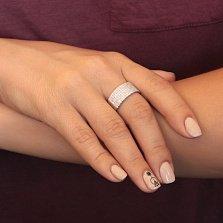 Серебряное кольцо Анастасия с фианитами