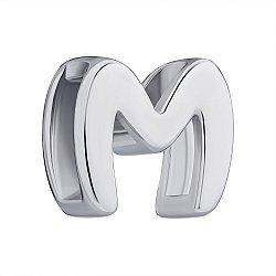 Подвеска серебряная буква М 000147326