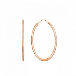 Серьги-кольца из красного золота Инфанта