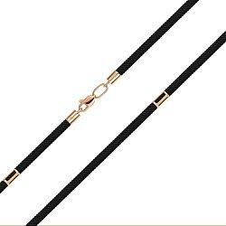 Шелковый ювелирный шнурок с золотыми вставками 000146028