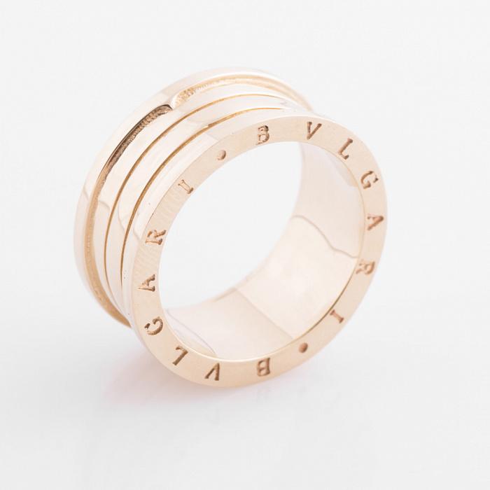 Золотое кольцо Голос тишины в желтом цвете в стиле Булгари 000082368