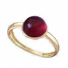 Кольцо в желтом золоте Виктория с рубином