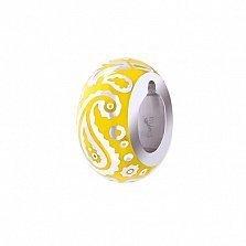 Серебряный шарм Акварель с желтой эмалью