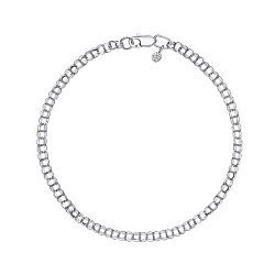 Серебряный браслет в плетении бисмарк, 3 мм 000118121