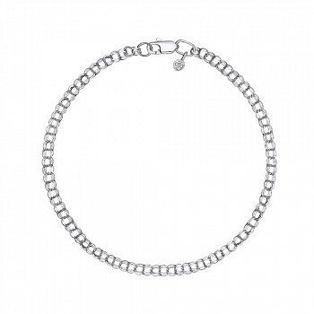 Срібний браслет в плетінні бісмарк, 3 мм 000118121