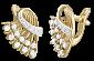 Серебряные серьги с позолотой и фианитами Карнавал SLX--С3Ф/084