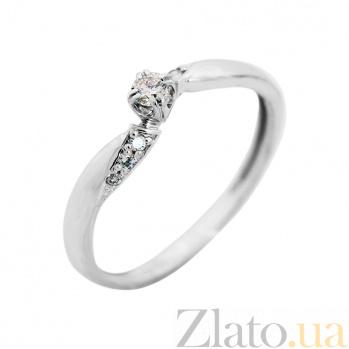 Золотое помолвочное кольцо Аурелия в белом цвете с бриллиантами VLA--14139