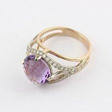 Золотое кольцо Армель с александритом и фианитами