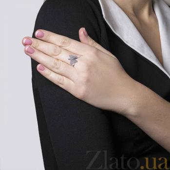 Серебряное кольцо с фианитами Бабочка 000027174