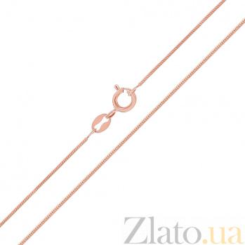 Серебряная цепь Нить любви с позолотой 000030872