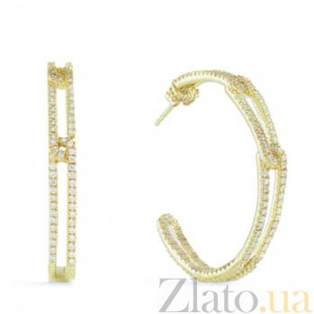 Серьги Ashkenazi из желтого золота с бриллиантами E-JR-E-d240