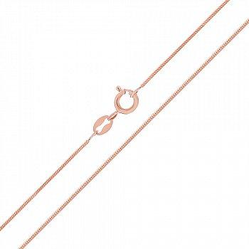 Срібний ланцюг квадратний снейк з позолотою 000030872