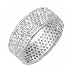 Серебряное кольцо с фианитами 000028301