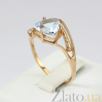 Золотое кольцо с топазом и фианитом Идонеа VLN--112-001-1