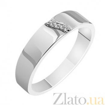 Золотое обручальное кольцо с бриллиантами Марсела KBL--К1586/бел/брил