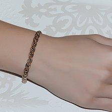 Золотой браслет Вереск в комбинированном цвете
