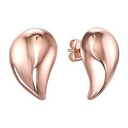 Серебряные серьги-пуссеты с позолотой 000138729
