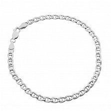 Серебряный браслет Антарес с родием, 5 мм