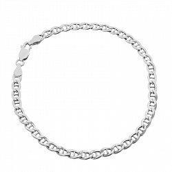 Серебряный браслет с родированием, 5 мм 000071951