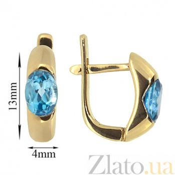 Золотые серьги с топазами Зафира ZMX--ET-6035_K