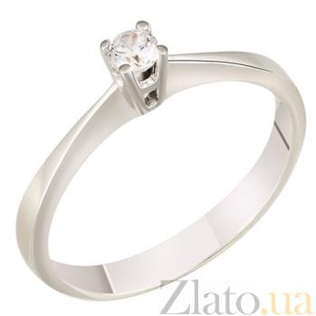 Золотое кольцо с фианитом Сакраменто 000022927