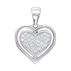 Серебряная подвеска с цирконием 000121484
