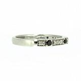 Серебряное кольцо Ждана с сапфирами и бриллиантами