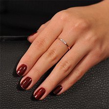 Кольцо из красного золота Путь к успеху с бриллиантами