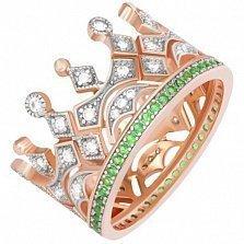 Кольцо из серебра Королевское Высочество с фианитами