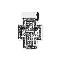 Серебряный крест Хранитель Вселенной с чернением 000038811
