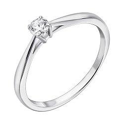Золотое помолвочное кольцо Crazy Love в белом цвете с бриллиантом 0,1ct