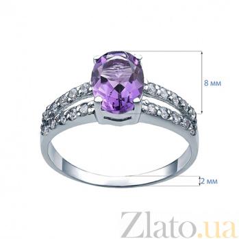 Серебряное кольцо с аметистом Полевая гвоздика AQA--R01287Am
