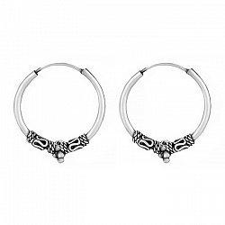 Серебряные сережки-конго, d 19мм 000024721